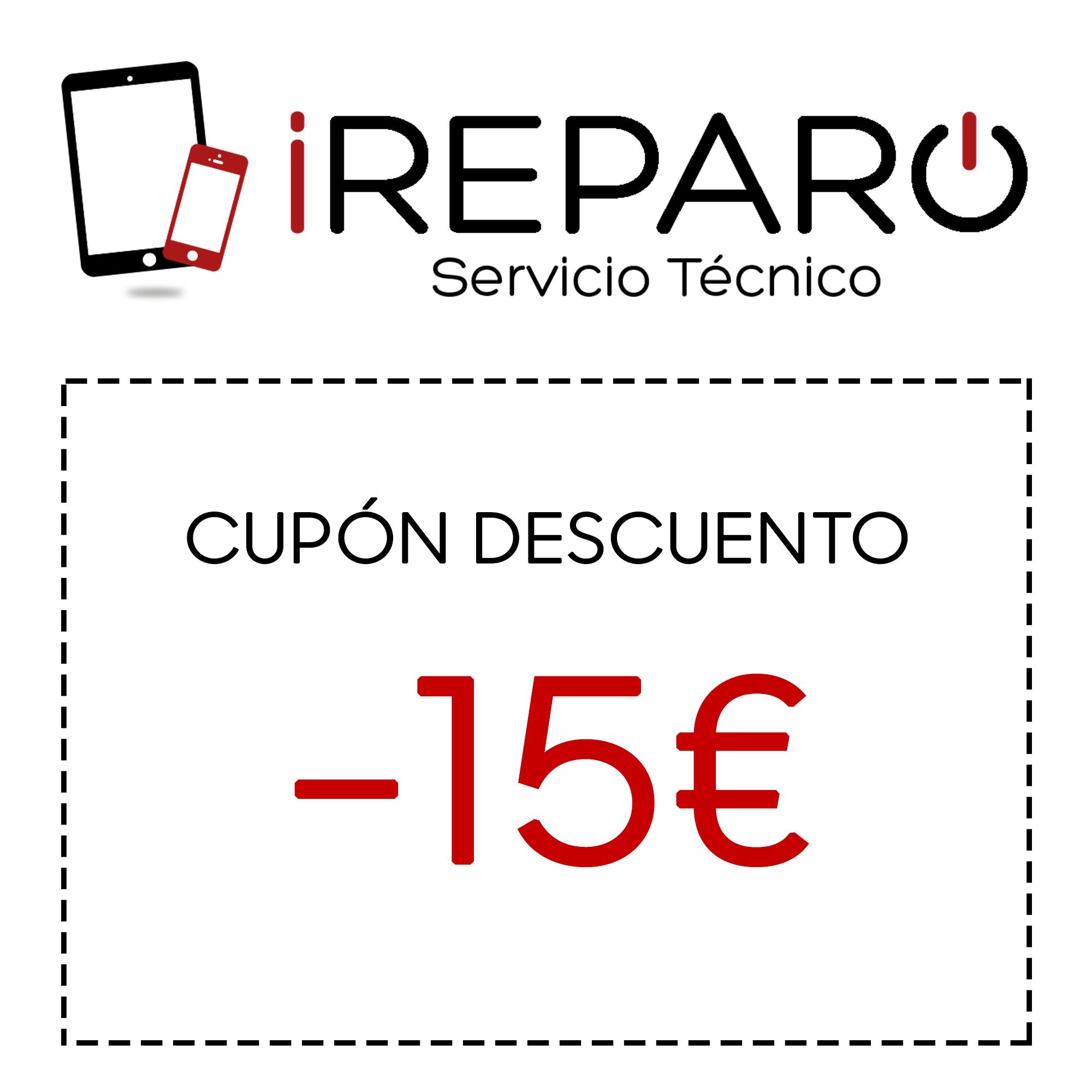 Cupón 15€ en iReparo
